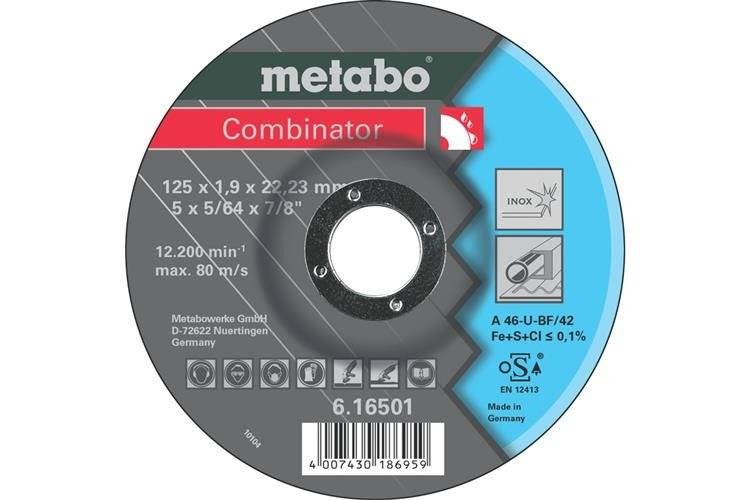 Metabo Tarcza do metalu Combinator 125 x 22,2 Inox