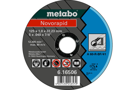 Metabo Tarcza Novorapid 125x1,0x22,23 mm 616506000